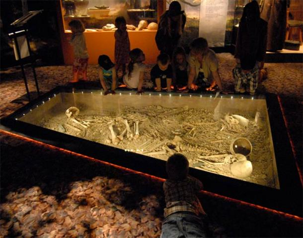 The Bergsgraven discovery of 1953 during the building of a road in Linköping, Sweden, included the grave of what was probably an entire family, including man, woman, child and dog, and items such as battle axes. This is currently on display at Östergötlands Museum. (Östergötlands Museum)