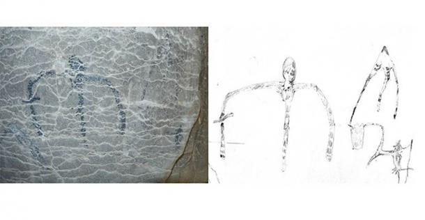 The cave art found, also included abstract symbols only previously seen at a cave site on the island of Borneo, 7,500 kilometers away. (Burney et al. 2020 / tandfonline)