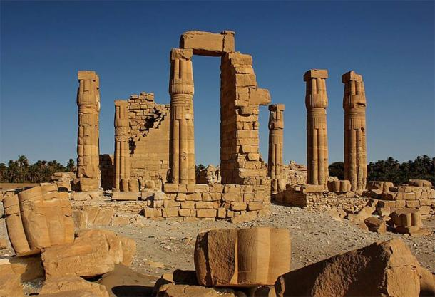 The total solar eclipse that passed over southern Egypt on August 15th 1351 BC would have been visible from many southern Egyptian sites, such as the Temple of Soleb built by his father Amenhotep III. The Temple of Soleb is located in modern-day Sudan. (Clemens Schmillen / CC BY-SA 4.0)