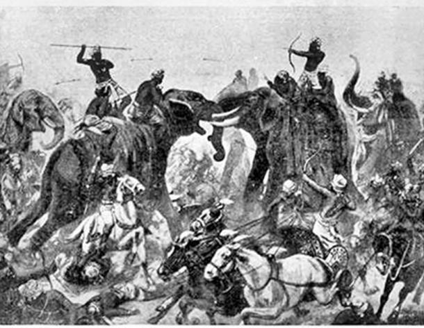 The Battle of Vatapi, between the Pallavas and Chalukyas, took place near the Chalukya capital of Vatapi (today's Badami) in 642, and ended with the defeat and death of Pulakesi II. (Public domain)