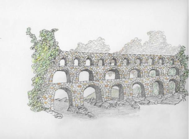 Roman aqueduct by Robbie Peterson (Author supplied)