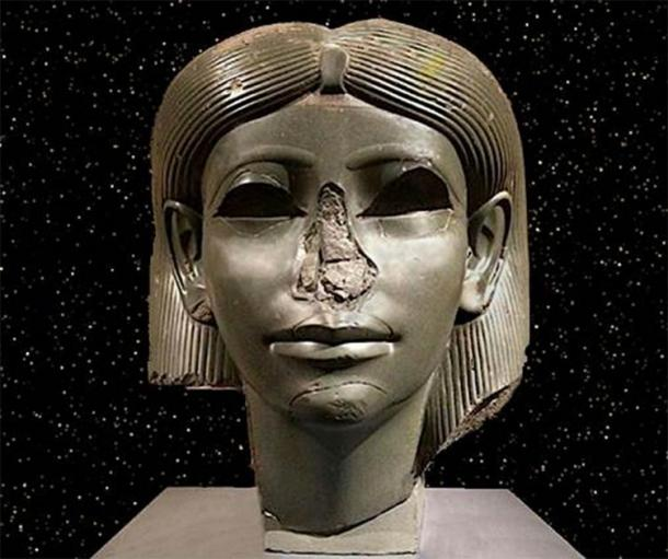 Head of an ancient Egyptian royal daughter dating to around 1850 BC and thought to show Sobekneferu. Currently in the Brooklyn Museum, New York. Credit: Rodney Hale/Andrew Collins.