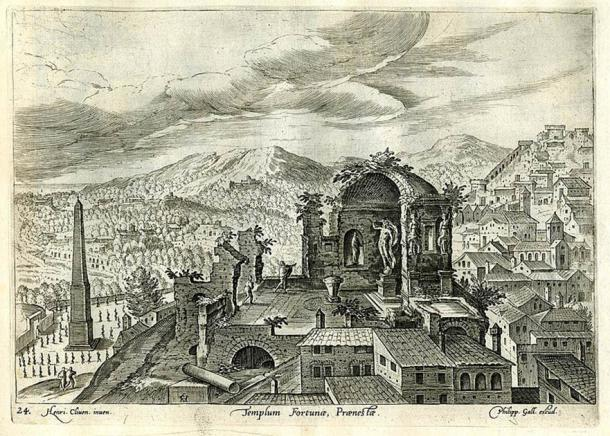 Palestrina is located just 35 kilometers from Rome and was a highly important town before the rise of Rome. Also home to the Temple of Fortuna Primigenia seen in this etching, Palestrina is where the Praeneste fibula was originally discovered. (Public domain)