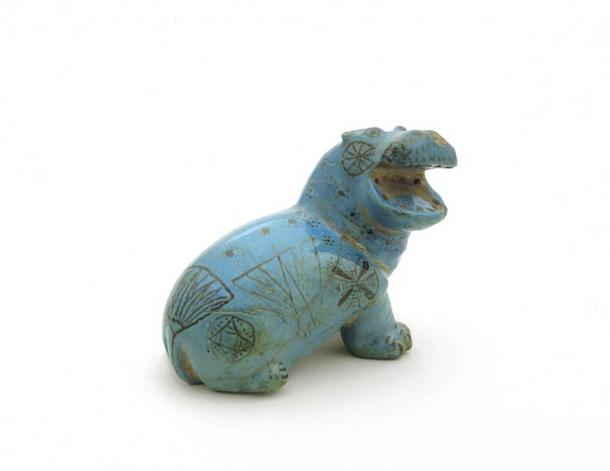 A famous Egyptian hippo faience, part of the George Ortiz Collection. (George Ortiz Collection)