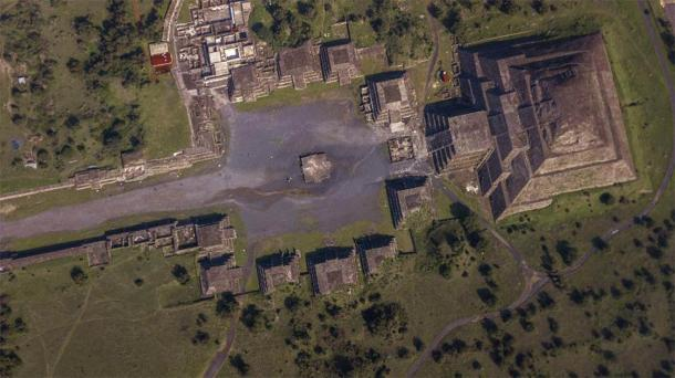 Aerial view of Teotihuacan. (Gian /Adobe Stock)