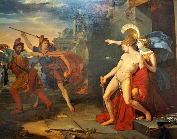 The assassination of Alcibiades at Phrygia by the Persians in 404 BC. (Michaël Martin (photographer). Philippe Chéry (18th century) / Public domain)