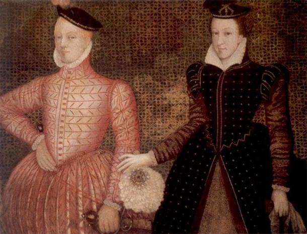 Mary, Queen of Scots, and her second husband Henry Stuart, Lord Darnley, parents of King James VI of Scotland, later King James I of England. (Public Domain)