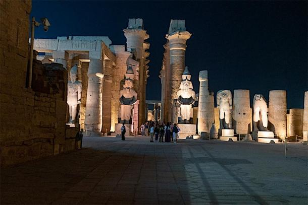 Statues of Ramesses II at the Luxor Temple. Photo taken on a recent Ancient Origins trip to Egypt. (Courtesy of Ioannis Syrigos)