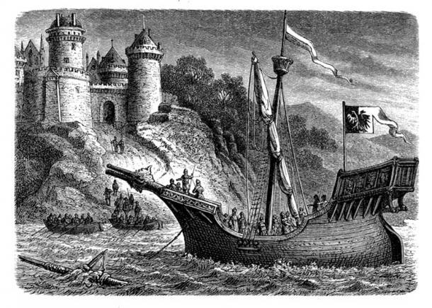 Los gremios mercantiles invirtieron en muchas innovaciones de construcción naval, incluida la creación de un barco conocido como el engranaje hanseático que podría transportar hasta 200 toneladas (2.204,6 libras), para sus redes comerciales en el Norte y el Mar Báltico. (acrogame / Adobe Stock)