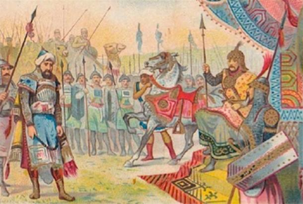 Bayezid I at the hands of Timur. After the Ottoman Empire victory at the Battle of Ankara, Timur became the dominant ruler in the Muslim world. (SAİT71 / Public Domain)