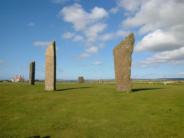 The Stones of Stenness on the Orkney Mainland. Dating to circa 3100 BC, it is thought to be the oldest stone circle in the British Isles. (Image: Andrew Collins)