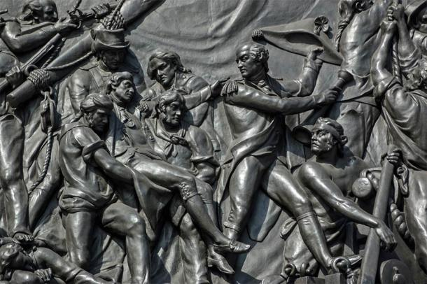 Death of Nelson bronze plaque, Trafalgar Square, England (BasPhoto / Adobe Stock)