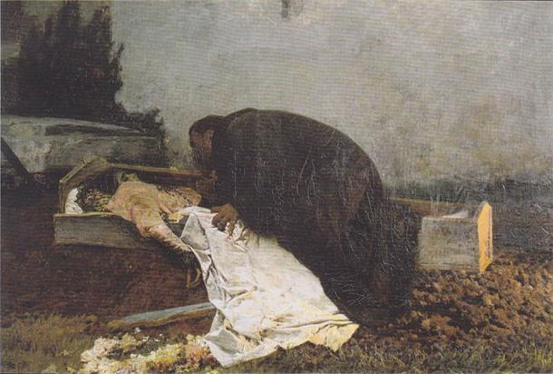 The dark desire for fornication in graveyards has remained popular up until today. (Public domain)