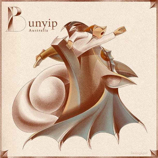 The terrifying Australian cryptid called bunyip. (Laimute Varkalaite/SavingSpot)