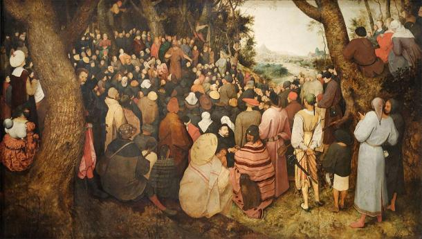 John the Baptist preaching to the people. (Pieter Bruegel the Elder (1566) / Public domain)