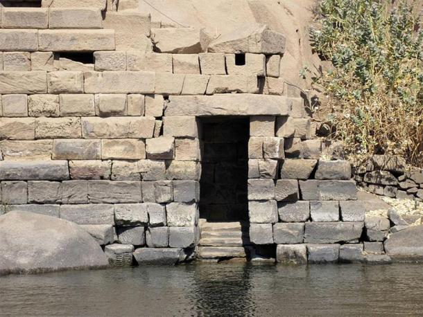 Nilometer on the southeast side of Elephantine Island in Aswan, Egypt. (Olaf Tausch / CC BY 3.0)