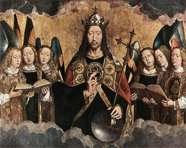 Christ Surrounded by Musician Angels by Hans Memling, 1480s (Public Domain)