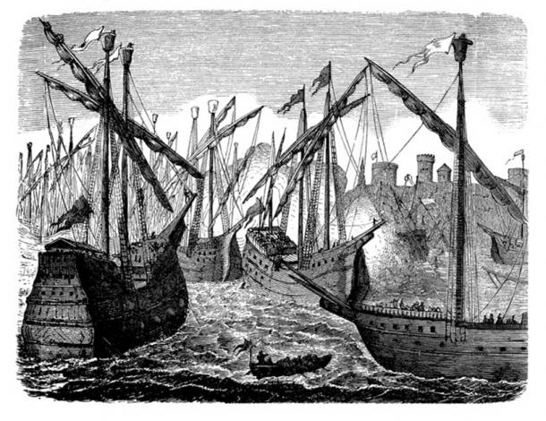 The Hanseatic League had their own military force. During the Danish-Hansearic War, they bombarded Copenhagen destroying the Danish fleet in 1428. (acrogame / Adobe Stock)