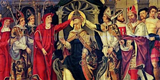 Depiction of the coronation of the medieval pope Celestine V. (French School / Public domain)