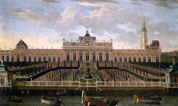 Canvas painting of Monbijou Palace from 1739. (Dismar Degen / Public domain)