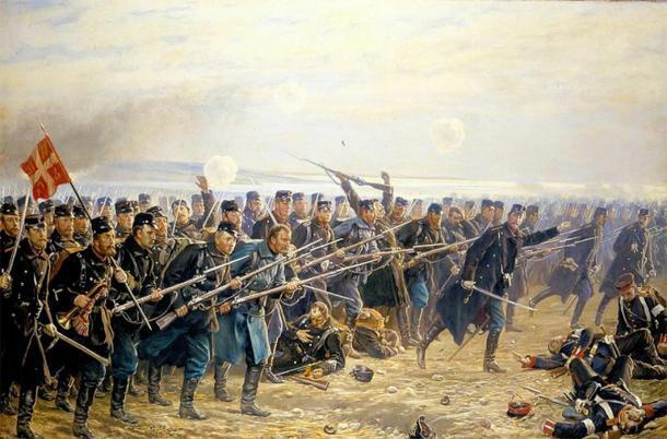 Danish soldiers in battle during the Second Schleswig War. (Vilhelm Rosenstand  / Public domain)