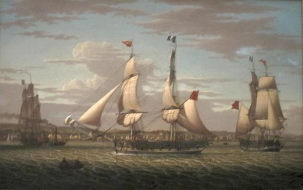 'Ships off Greenock, Scotland' (1813) by Robert Salmon. (Public Domain)