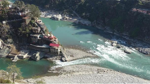 Rudraprayag, one of the five sacred confluences of the Alaknanda and Mandakini Rivers, and home to the Rudranath Temple. (Sushant Pandey / Knowledge of India)
