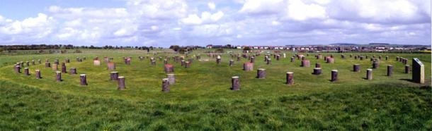 Woodhenge monument, south of Durrington Walls, as it looks today. Did its rings of posts function as a generator of sound? (Image: CC BY-SA 2.0)