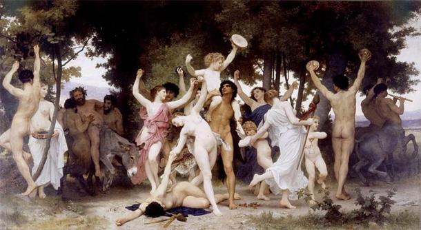 'La jeunesse de Bacchus' (The Youth of Bacchus) by William-Adolphe Bouguereau. (CC BY 2.0)