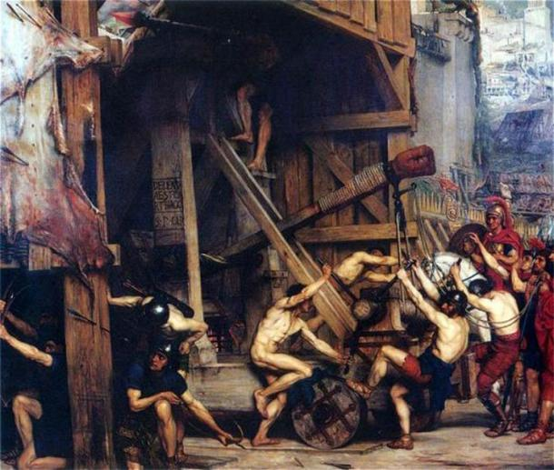 'The Catapult' (1868) by Edward Poynter. (Public Domain)