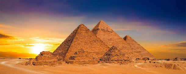 The Great Pyramids of Giza, Egypt, were designed using specific mathematical constants that relate closely with Pascal's Triangle. (John Smith / Adobe Stock)