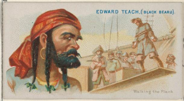 Blackbeard died young but his name lives on in films and the imaginations of so many writers. (Allen & Ginter / CC0)