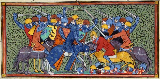 Charles Martel gathered his cavalry at Battle of Tours and attacked the Umayyad encampment. (Levan Ramishvili / Public Domain)