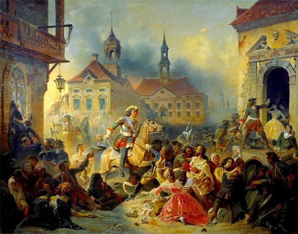Peter the Great at battle. (Alex Bakharev / Public Domain)
