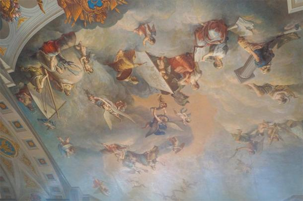 Paintings on the ceiling in one of the rooms of the Catherine the Great's Palace in Pushkino in St. Petersburg (julietta24 / Adobe Stock)