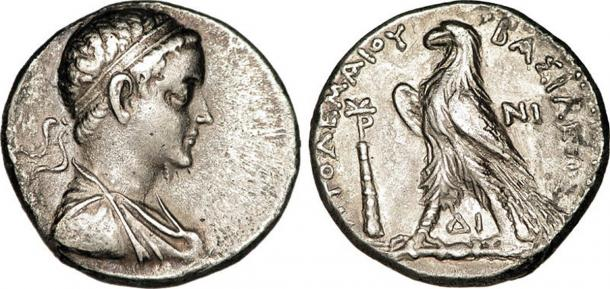 Tetradrachm issued by Ptolemy V Epiphanes. (CC BY SA 3.0)