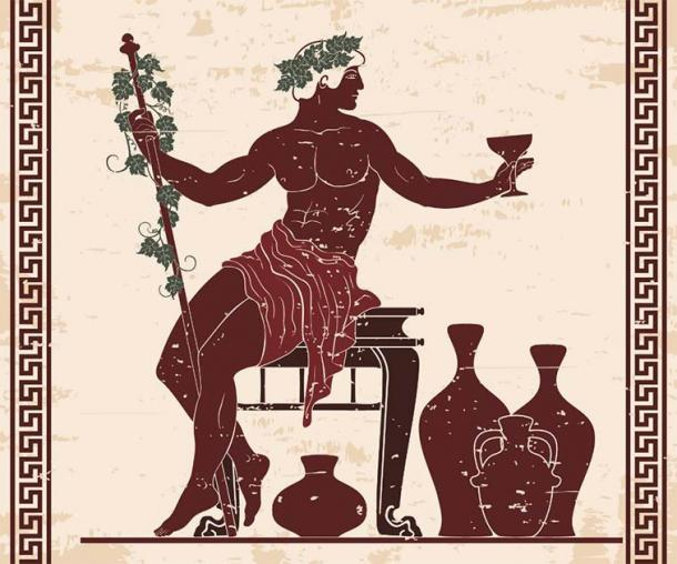 In frescoes and mosaics Dionysus is frequently presented as wearing or holding a cluster of grapes. (migfoto /Adobe Stock)