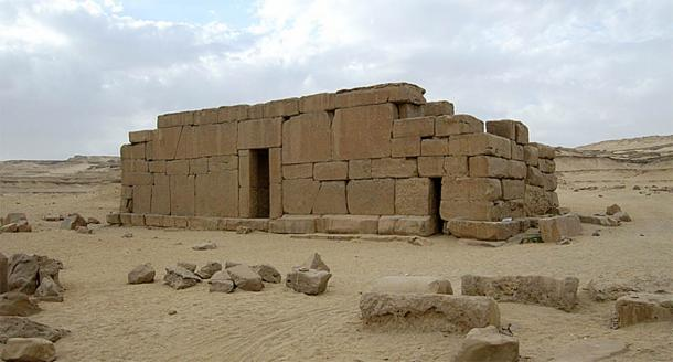 The megalithic temple of Qasr el Sagha in the Faiyum Oasis. Credit: Wiki Commons Agreement, 2020