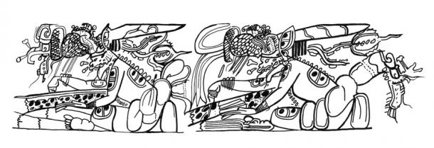 Details of a Classic period Maya vase, on rotation in the viewer's hands, animate a supernatural scribe who moves his hand to highlight a passage in a folded Maya book (codex). The creature wears a netted headdress with large protruding waterlily blossom and holds a shell ink pot typical of Maya scribes and artists. At the same time, the scribe's attire and body seem to grow in size, thus highlighting the importance of the passage he is drawing attention to in the codex. The animation was extracted and adapted from vessel 63 in Robicsek and Hales (1981:56). (Jenny and Alex John / The Maya Gods of Time)