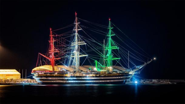 The Amerigo Vespucci, an Italian Navy training ship, which was dedicated to the famous explorer and is still being used today. (Stefano Garau / Adobe stock)
