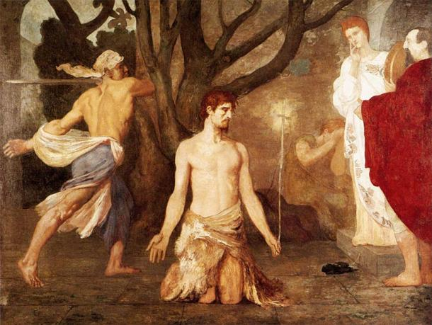 The beheading of John the Baptist. (Pierre Puvis de Chavannes / Public domain)