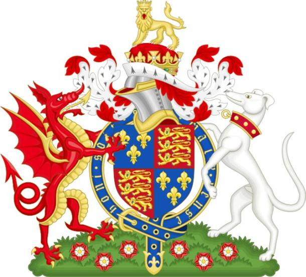 Henry VII's  coat of arms displaying the red dragon (CC BY 2.0)