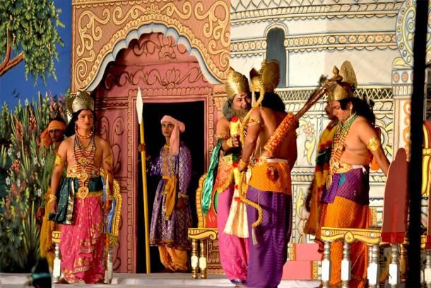 A scene from the theatrical performance of Ram Lila. (Ankit Gupta/CC BY SA 3.0)