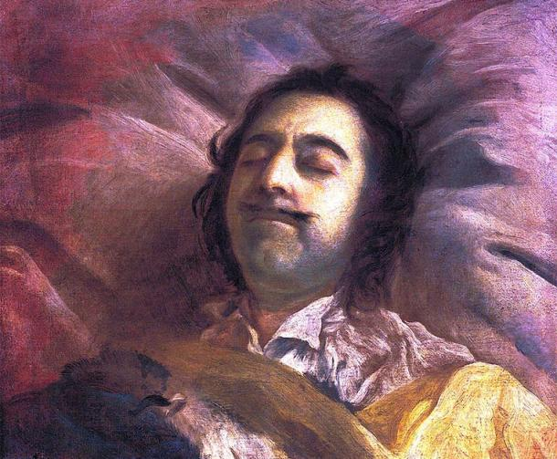 Peter the Great on his deathbed. (Stolengood / Public Domain)