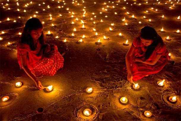 Diwali, the festival of lights. (Public Domain)