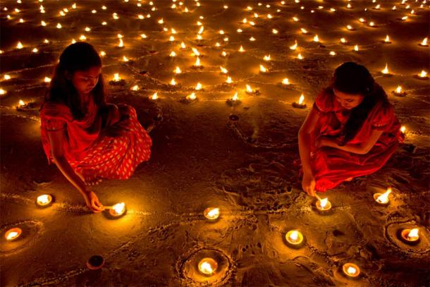 Diwali, the festival of lights. (Public Domain)