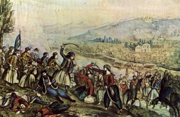 The Greek War of Independence (1821–1829) against the Ottoman Empire. (Andromeas / Public Domain)