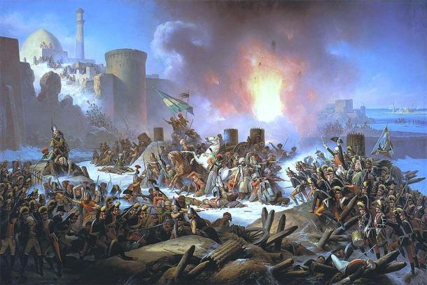 Victory of Ochakiv, December 1788 painted by January Suchodolski (Public Domain)