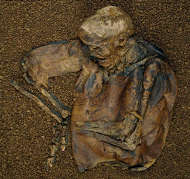 Lindow Man on display at the British Museum in 1996. (Trustees of the British Museum / CC BY-NC-SA 4.0)