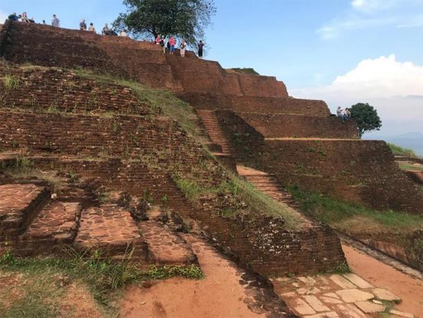 Another shot of the step-pyramid style construction, present on Sigiriya Citadel. (Photo courtesy of the author)